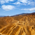 Death valley national park california zabriskie point eroded mudstones Royalty Free Stock Photography