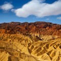 Death valley national park california zabriskie point eroded mudstones Stock Image