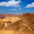 Death valley national park california zabriskie point eroded mudstones Royalty Free Stock Images