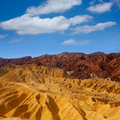 Death valley national park california zabriskie point eroded mudstones Stock Images