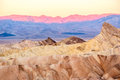 Death Valley National Park - Zabriskie Point at sunrise Royalty Free Stock Photo