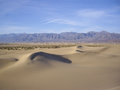 Death valley vista dunes in winter Stock Photography