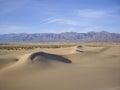 Death valley vista dunes in winter Stock Photography