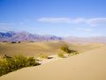 Death valley vista scenic view of mesquite flats in Royalty Free Stock Photos