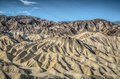 Death valley zabriskie point sand mointains california panoramic view Stock Photo