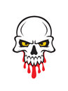 Deaths head vector illustration of a horror picture Royalty Free Stock Images