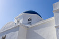 Deatil of a church in Iraklia island, Cyclades, Greece Royalty Free Stock Photo