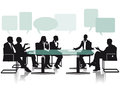 Debate and discussion in office an illustration of the Royalty Free Stock Image