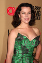 Debi mazar larry king los angeles dec arrives at cnn s live final broadcast party at spago on december in beverly hills ca Royalty Free Stock Image