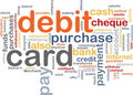 Debit card word cloud Stock Photo