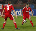 Debrecen vs Liverpool UEFA Champions League match Royalty Free Stock Photography