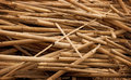 Debris bamboo sticks in heap tropical a Stock Images