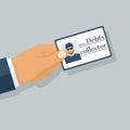 Debt collector vector