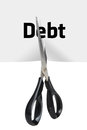 Debt Cutting Royalty Free Stock Photo