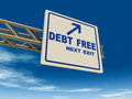 Debt free Royalty Free Stock Images