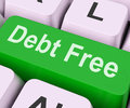 Debt Free Key Means Financial Freedom Royalty Free Stock Photo