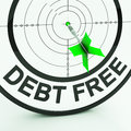 Debt Free Shows Wealth With Zero Loans Royalty Free Stock Images