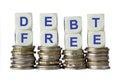 Debt Free Royalty Free Stock Photo