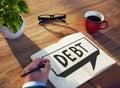 Debt obligation credit finance debit concept Stock Photo
