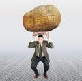 Debtor under the burden of debt Royalty Free Stock Photo