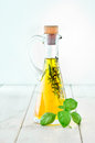 Decanter of Olive Oil Royalty Free Stock Photo
