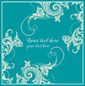 Decard in baroque style card with curls Royalty Free Stock Photo