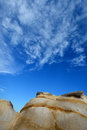 Decayed rock granite fujian china weathering and under blue sky in south of as featured geology landforms with wonderful pattern Stock Photo