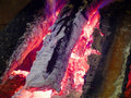 Decaying coals Stock Photos