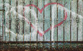 Decaying metal fence Royalty Free Stock Photo