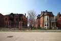 Decaying residential houses in Detroit, Michigan Royalty Free Stock Photo