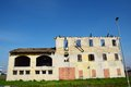 Decaying white walls veneto italy on a field in north Stock Images