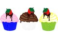 Decedant cupcakes... Royalty Free Stock Images
