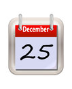 December calender isolated on white Royalty Free Stock Images