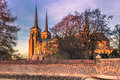 December 04, 2016: Cathedral of Saint Luke in Roskilde, Denmark Royalty Free Stock Photo