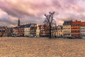 December 05, 2016: Facade of typical Danish buildings in Copenha Royalty Free Stock Photo