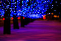 December illumination night city street lights out of focus Royalty Free Stock Image