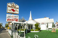 December little white las vegas june wedding chapel on june in las vegas usa ichael jordan and joan collins married in that chapel Stock Photo