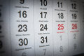 December th in the polish calendar Royalty Free Stock Photography