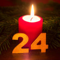 December th of red candle Stock Images