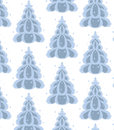 December trees seamless Royalty Free Stock Photography