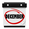 December word wall calendar change month winter christmas a with the circled in red marker reminding you of the in months and time Royalty Free Stock Images