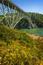 Deception pass state park washington the bridge is a two lane bridge on route connecting whidbey island to fidalgo island in the u Royalty Free Stock Images