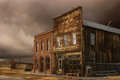 Dechambeau hotel the and ioof building at bodie california a very remote ghost town east of the sierra nevada Stock Images