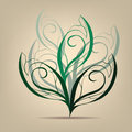 Deciduous tree symbol vector illustration on a beige background Royalty Free Stock Photos