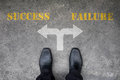 Decision to make at the cross road - success or failure Royalty Free Stock Photo