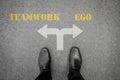 Decision to make - teamwork or ego Royalty Free Stock Photo