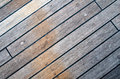 Deck of an ancient sailing vessel close up Royalty Free Stock Image