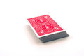 Deck of cards a red against a white background Stock Photography