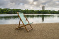 Deck Chair by the Serpentine Royalty Free Stock Photo