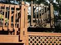 Deck staining, before & after Stock Photos